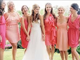 bridesmaid dresses coral pretty coral bridesmaid dresses mismatched coral bridesmaid
