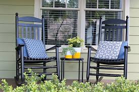 furniture glamorous front porch decoration with black wood