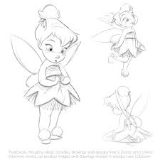 coloring fabulous tinkerbell sketches coloring