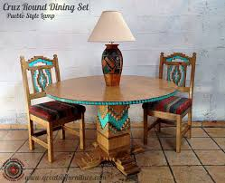 round table santa cruz sw painted furniture custom southwestern furniture ls wall