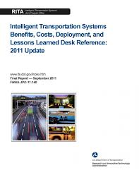 Desk Reference System by Intelligent Transportation System Benefits Costs Deployment And