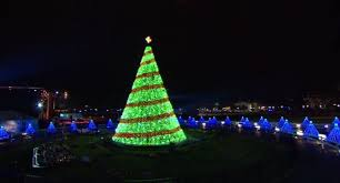 outdoor tree made of lights best business template