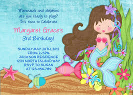 Invitation Birthday Party Card Mermaid Birthday Party Invitations Blueklip Com