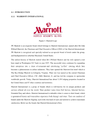 sample of swot analysis report internship report marriott international hotel