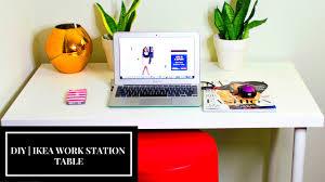 Ikea Work Table by Diy Ikea Linnmon White Minimalist Work Desk Youtube