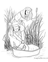 baby moses basket coloring pages redcabworcester redcabworcester