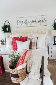 a cozy cheerful farmhouse christmas bedroom christmas bedroom