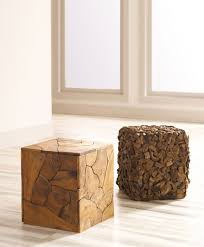 Log Side Table Wood Stools From Phillips Collection Seating Pinterest