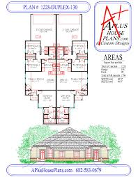 Duplex Floor Plan by Duplex House Plan 1228 Duplex 130 Traditional Front Elevation