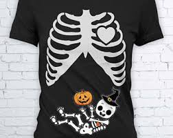 Skeleton Maternity Halloween Costumes Ninja Shirt Maternity Costume Baby Skeleton Shirt Rib