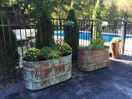 Garden Wall Troughs by Copper Patina And Rust Container Gardens Gardens Yards And