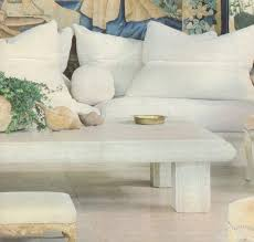 michael taylor travertine coffee table previously owned by a man