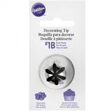 Wilton Icing Decorating Tip 1B XL DROP FLOWER CARDED Cake