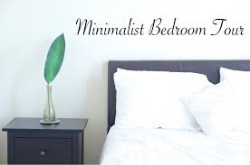 minimalist bedroom tour melissa u0027s minute youtube