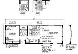 Mobile Home Floor Plans Single Wide Single Wide One Bedroom Manufactured Homes Single Wide Mobile