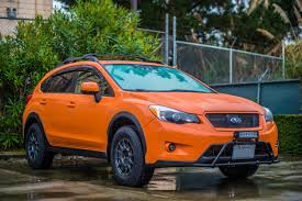subaru orange crosstrek put some new wheels on our little orange wagon battlewagon