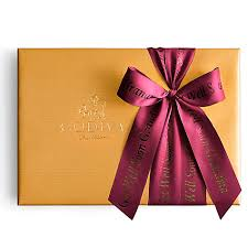 gift box with ribbon assorted chocolate gold gift box personalized wine ribbon godiva