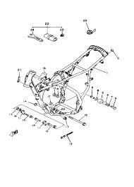 1981 yamaha yz125 yz125h frame tools parts best oem frame