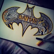 batman zentangle drawings art cool batman drawings batman