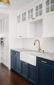 horizontal top kitchen cabinets white cabinets with blue lower cabinets transitional