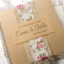 Burlap Photo Album Burlap Rose Handmade Wedding Guest Book Scrapbook Wedding