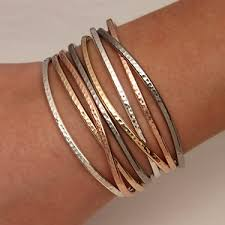 sterling silver rose gold bracelet images Handcrafted thin cuff bracelets from david smallcombe sterling jpg
