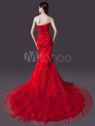 red mermaid wedding dress red wedding dresses sweetheart neckline