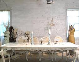 shabby chic kitchen table shabby chic dining table etsy