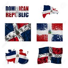 Dominican Republic Flags Dominican Republic Flag And Map In Different Styles In Different