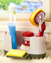 Kitchen Sink Scrubber Holder by Kitchen Sink Caddy Organizer With Ring Holder Holds Your Dish