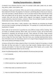 science based ks2 ks3 vcop reading comprehension worksheets