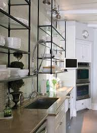 kitchen fascinating kitchen open shelving metal ideas kitchen