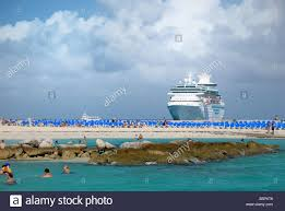 the royal caribbean cruise ship majesty of the seas can be seen in
