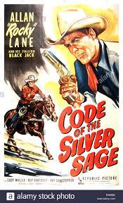 silver sage code of the silver sage u s poster allan lane 1950 stock photo