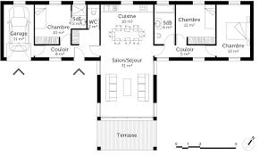 plan plain pied 4 chambres beautiful maison moderne plain pied 4 chambres 16 plan maison