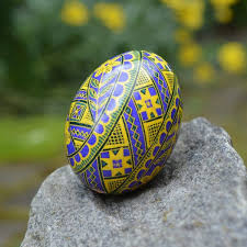 egg decorating supplies pysanka in yellow and violet ukrainian easter eggs and decorating