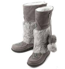womens winter boots canada 2015 winter canada muks genuine leather bead suede leather rabbit