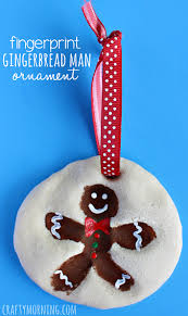 fingerprint gingerbread salt dough ornament crafty morning
