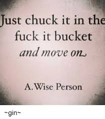 Fuck It Memes - just chuck it in the fuck it bucket and move on a wise person gin