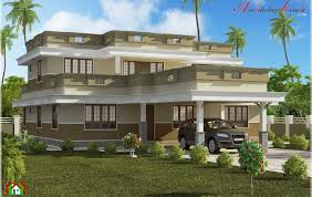 roof flat roof contemporary floor plans kerala home design and
