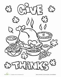 thanksgiving food coloring pages dinner worksheet education