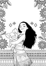 coloriage de vaiana moana gratuit à imprimer pour les enfants