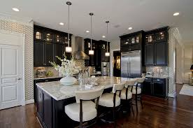 Black Lacquer Kitchen Cabinets by Ladder Back Chairs Kitchen Traditional With Pendant Lights Cup