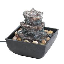 small indoor table fountains water fountains indoor small tabletop water fountain polyresin ebay