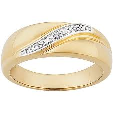 silver wedding bands men s diamond accent 14kt gold sterling silver wedding band