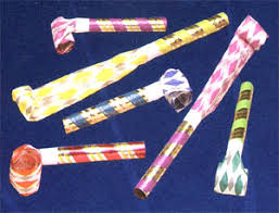 new years party blowers paper party blower
