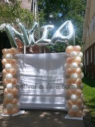 send a balloon photo backdrop balloon columns and name for prom send