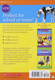 Antonym For Comfort Scholastic Pocket Dictionary Of Synonyms Antonyms Homonyms