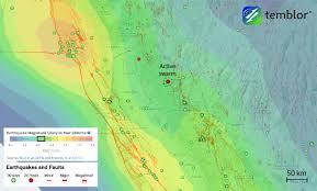 Earthquake Incident Map Earthquake Swarm Near Reno Nevada California Border Region