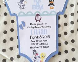 baby looney tunes baby shower decorations baby looney tunes baby shower invitations iidaemilia